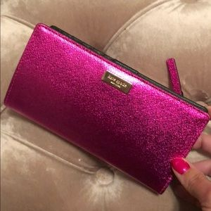 Kate Spade pink wallet authentic